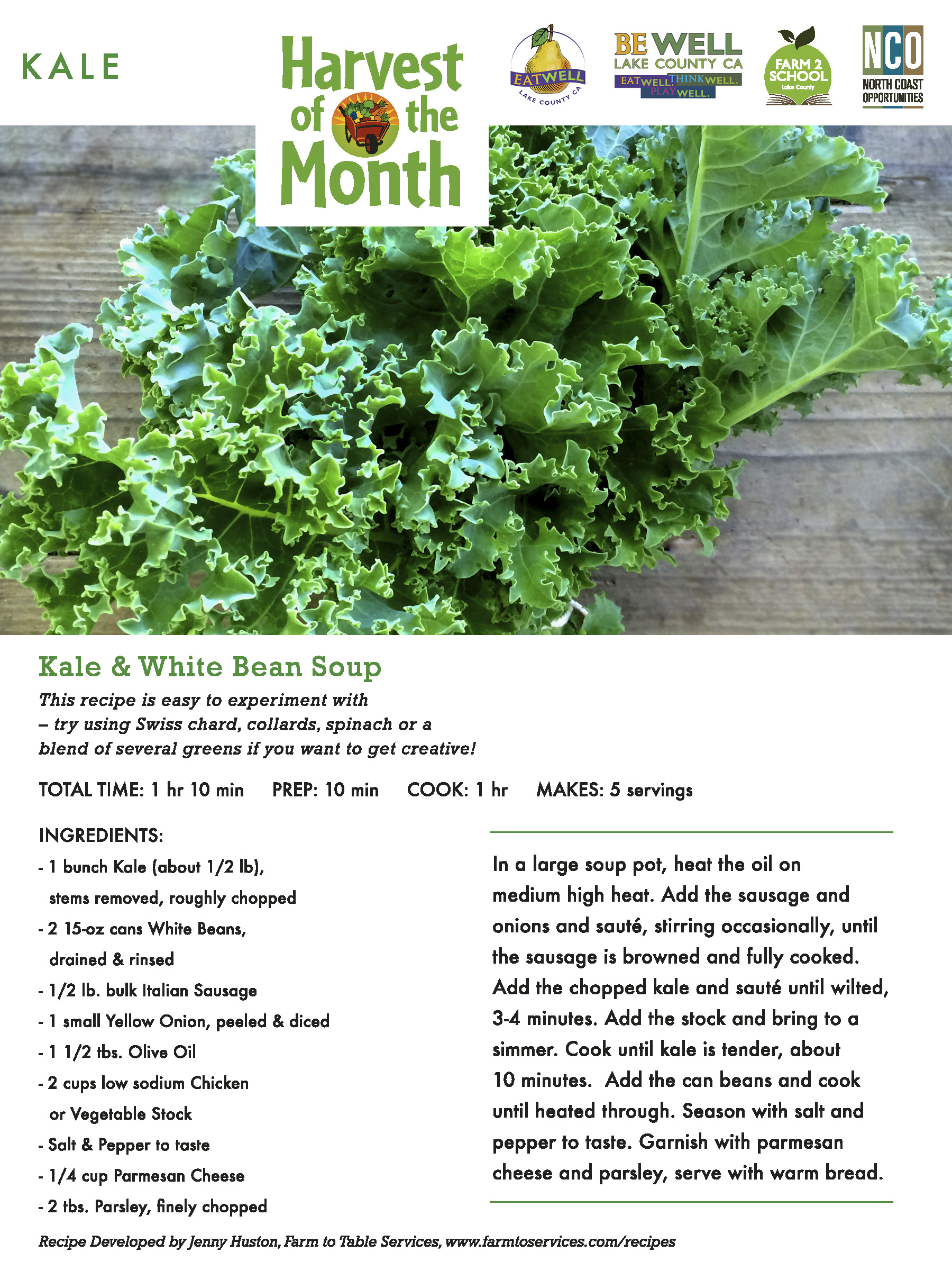 Harvest of the Month Recipes - Lake County Farm to School - NCO Inc ...