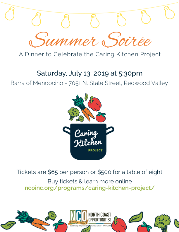Caring Kitchen Celebrates Its 2nd Anniversary With A Summer Soiree News Nco Inc 2021 Ukiah California